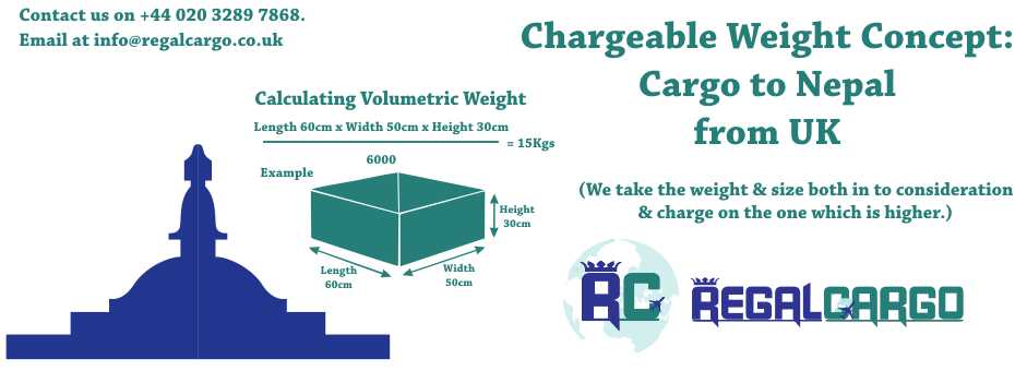Chargeable Weight Concept Cargo to Nepal from UK